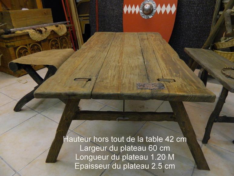 Beau table en planche de coffrage 3 nouveau plateau de - Table en planche de coffrage ...